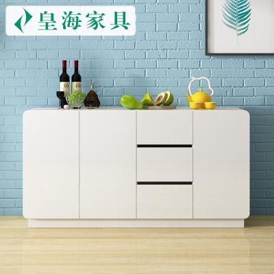 皇海家具 餐邊柜 現代簡約廚房櫥柜客廳儲物茶水柜多功能酒柜大容量碗櫥柜子 雪莉785