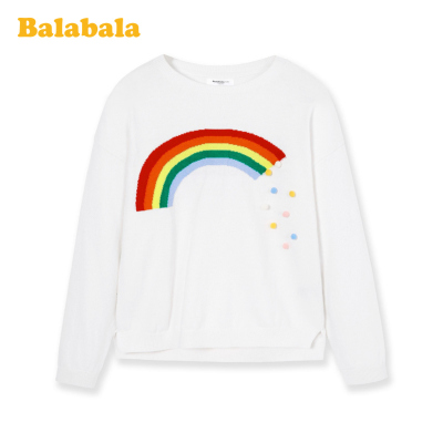 巴拉巴拉女童毛衣兒童春裝兒童打底衫中大童純棉時尚百搭洋氣韓版