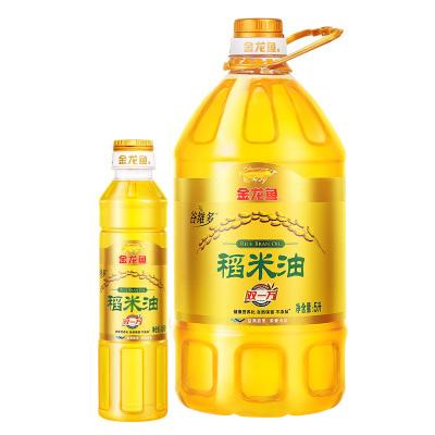 金龙鱼 谷维素稻米油5L 桶装食用油捆绑装随机