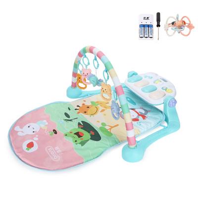 貝恩施嬰兒腳踏琴鋼琴健身架器新生兒寶寶音樂兒童玩具0-1歲3個月 pastoerl動物園【套餐二】