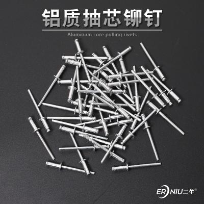 拉鉚槍鉚釘槍鋁制抽芯鉚釘裝潢釘鋁拉釘開口型平圓頭3.2/4/4.8mm