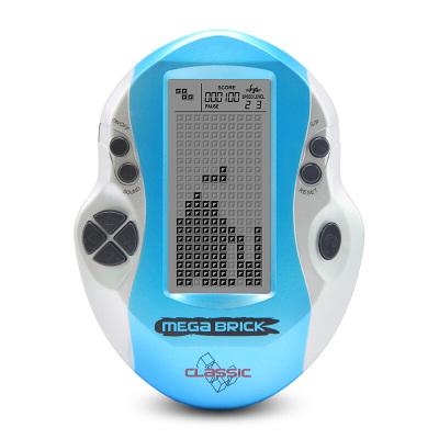 大屏俄罗斯方块游戏机掌机80后老人玩具 天蓝色 巨无霸 单机 天蓝色巨无霸