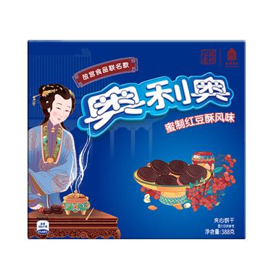 亿滋奥利奥故宫风味系列夹心饼干蜜制红豆酥味388g
