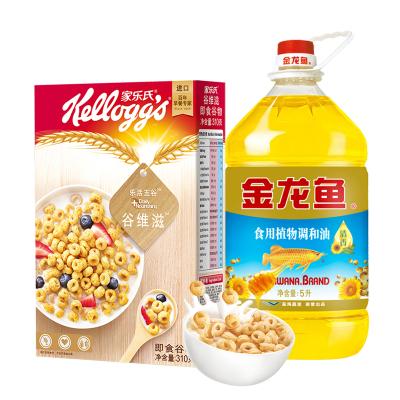 家乐氏谷维滋310g+金龙鱼葵花籽调和油5L