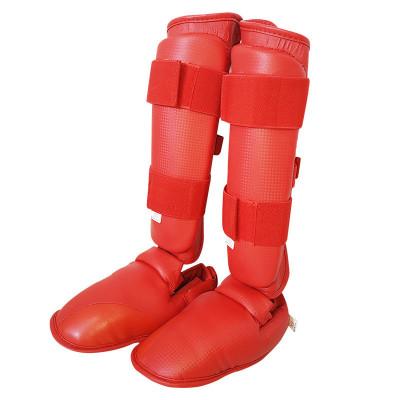 空手道护具连脚护腿拳击空手道儿童成人护小腿可定制logo