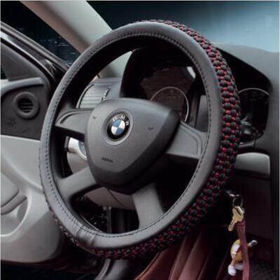 苏宁放心购专用于汽车方向盘套夏季冰丝把套长安CS95 CS75 CS35欧尚CS15欧诺CS55 粗冰丝-黑色