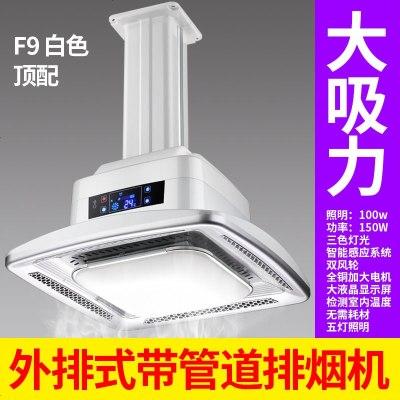 顾致麻将机吸烟灯棋牌室内悬挂式空气净化器外排式带管道排烟机LED