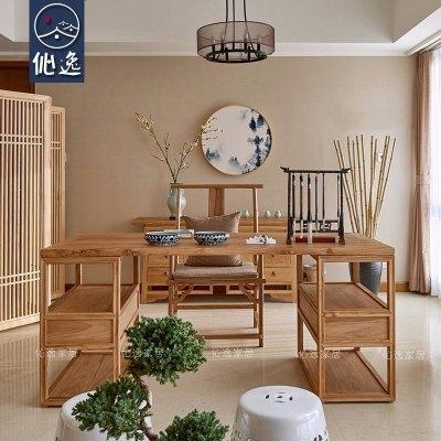 新中式沙发组合客厅整装现代中式简约布艺实木沙发原木色家具定制定制!