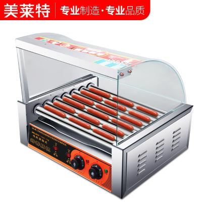 美莱特7管烤肠机商用热狗烤香肠机全自动台湾小型迷你火腿肠家用