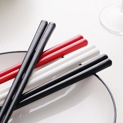 銳旭 居家日用陶瓷筷子 骨瓷陶瓷筷子瓷酒店家用中式防燙抗菌耐摔耐高溫