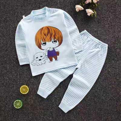 【關注優先發貨】口袋虎0至6歲時尚男女童純棉打底睡衣內衣套裝