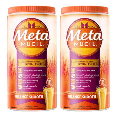 2罐裝   【114次大包裝】美達施(Metamucil)膳食纖維/果蔬纖維粉香橙味673g/罐裝 吸油膩平小腹