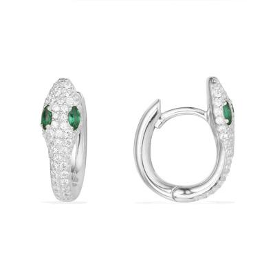 APM Monaco WONDERLAND系列女士S925銀時尚飾品鑲晶鉆S形 耳環首飾銀耳飾 AE10184XKG