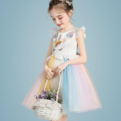【精品好貨】女童公主裙兒童蓬蓬紗裙子女孩洋氣生日婚紗演出服夏季連衣裙禮服 邁詩蒙