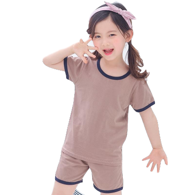 居家棉夏季兒童家居服套裝夏天男童短袖T恤寶寶薄款3-14女童睡衣兩件套 臻依緣