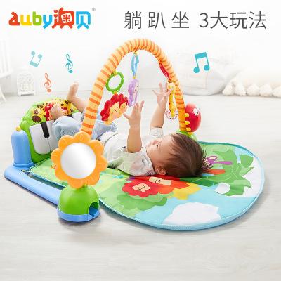 澳貝(AUBY)兒童玩具 寶寶嬰幼兒玩具腳踏鋼琴健身架0-3個月新生兒0-1歲