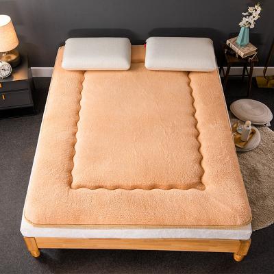 加厚保暖羊羔绒床垫子冬季保暖软垫冬家用床褥子床垫被学生宿舍加厚单人榻榻米海绵垫双人被褥1.8米1.5米单人床垫0.9m