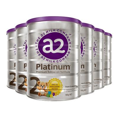 6罐裝|澳洲a2Platinum白金版嬰幼兒奶粉2段900g(6-12月)