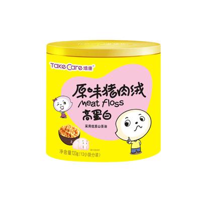 培康(TakeCare) 儿童零食 原味猪肉绒猪类肉粉松120g(12小袋分装) 罐装