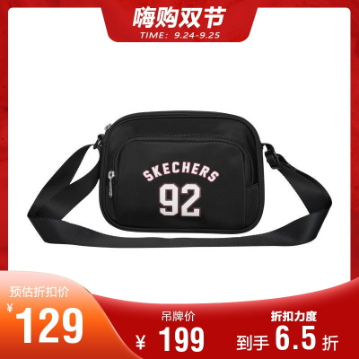 Skechers斯凱奇男女同款單肩斜挎包 時尚實用小斜挎包L319U034