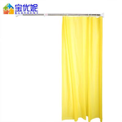 宝优妮浴帘杆免打孔伸缩杆直杆型浴室撑杆卫生间晾衣杆阳台窗帘杆 DQ0300-1象牙色
