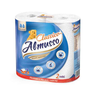 安木舒(Almusso)歐洲進口有芯廚房用紙 50節2層2卷 經典廚房紙巾 1提