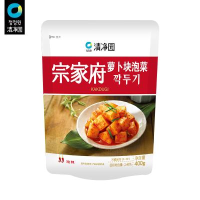 清凈園宗家府韓國泡菜蘿卜塊400g 韓式小菜袋裝咸菜下飯菜配飯菜小菜