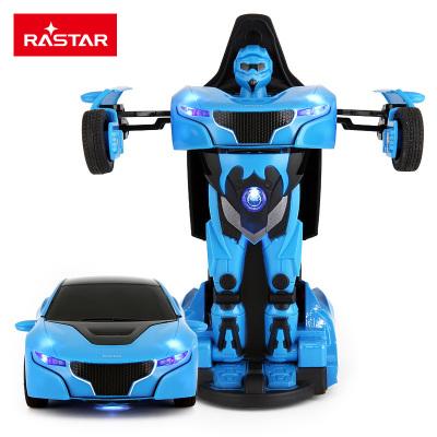 星辉(Rastar)1:32RS战警口袋机器人合金变形玩具汽车带声光可变形61800蓝色