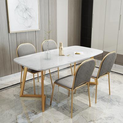 北歐大理石餐桌椅酒店飯店餐桌 餐廳家具北歐餐桌椅現代客廳餐桌