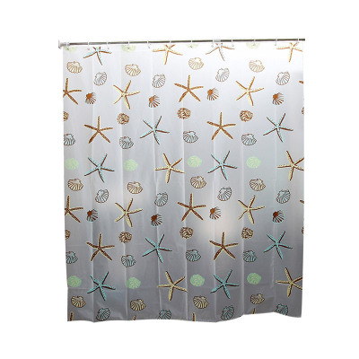 欧润哲 PEVA浴帘海星款(180*200cm) 阻隔防水加厚防霉卫生间浴室挂帘布