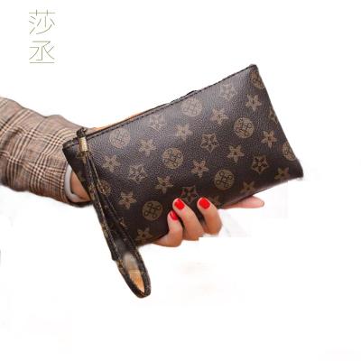 新款時尚女士長款經典老花錢包簡約歐美風潮流手拿包手拎包零錢包 莎丞