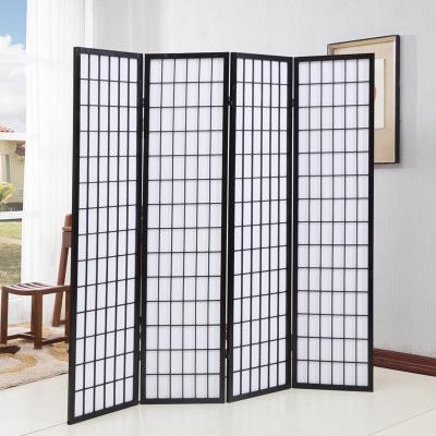 現代時尚中式屏風阿斯卡利中式客廳折阻影棚背景墻茶室酒店屏風 黑色單片(3件起發貨)