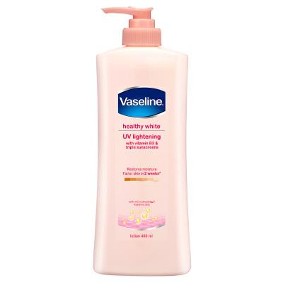 凡士林(Vaseline) 亮彩修復 煙酰胺身體潤膚乳 粉色 400ml 提亮膚色 滋潤修護
