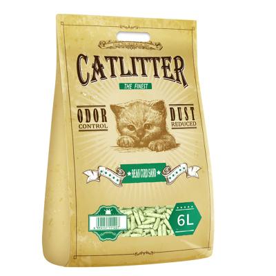 西西猫豆腐猫砂6L豆腐砂猫沙绿茶味猫砂除臭猫砂猫咪用品猫砂豆腐砂