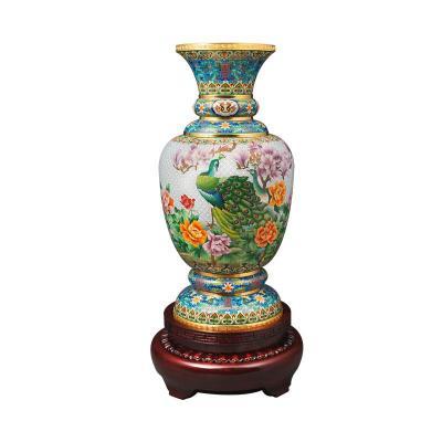中国工艺美术师钟连盛景泰蓝《盛世欢歌》(中)