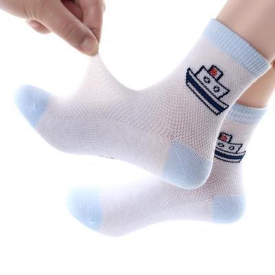 2019夏季新款5雙裝兒童襪子男童中筒襪男孩女孩寶寶童襪女童小孩大童小童竹炭纖維10-23cmTCVV