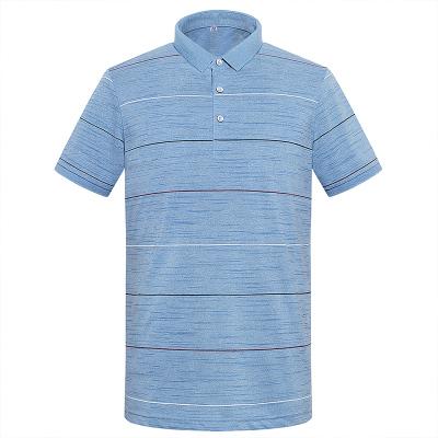 相思鸟男装POLO衫男士夏季薄款中青年条纹T恤商务时尚男士短袖T恤