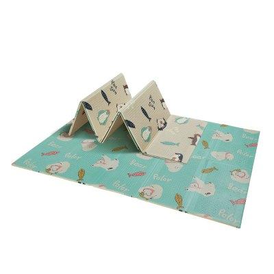 babycare宝宝爬行垫折叠147*195*1cm 加厚xpe儿童泡沫地垫客厅家用婴儿爬爬垫 马里斯企鹅 7516