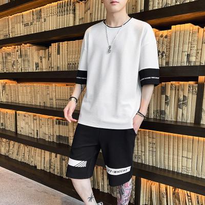 木林森(MULINSEN)短袖男士T恤夏季韓版潮流休閑2020新款潮牌運動寬松戶外休閑衣套裝