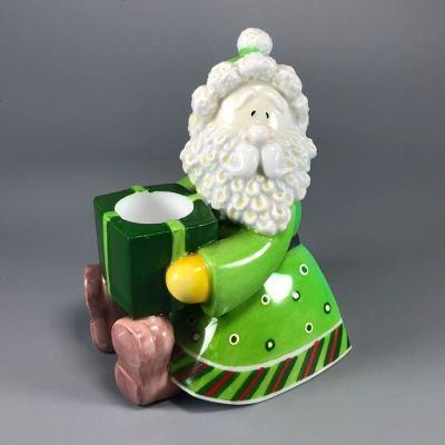 清仓陶瓷3D圣诞老人蜡烛台生日礼物家居饰品新婚摆件瓷