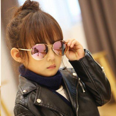 儿童墨镜韩国小学生男童太阳镜10岁女童潮眼镜中大童青少年蛤蟆