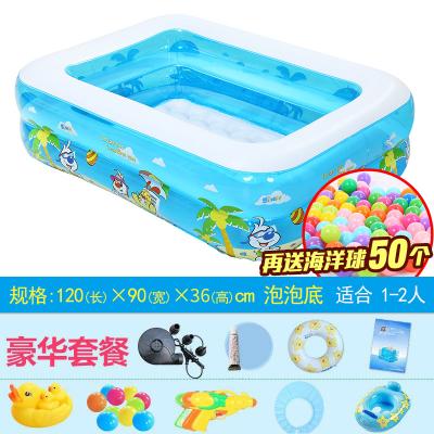 諾澳嬰兒童游泳池充氣嬰兒浴盆寶寶洗澡盆充氣泳池加大保溫家庭戲水池球池豪華套餐