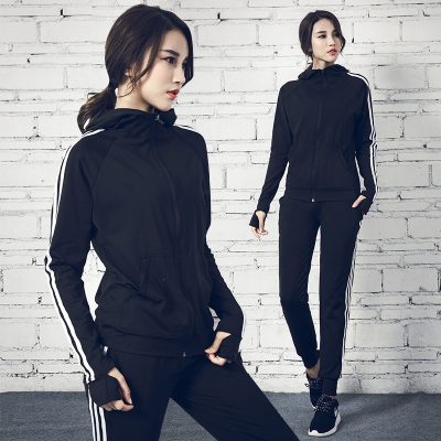 冬天运动套装女秋季网红健身房瑜伽服户外晨跑跑步服速干衣休闲服