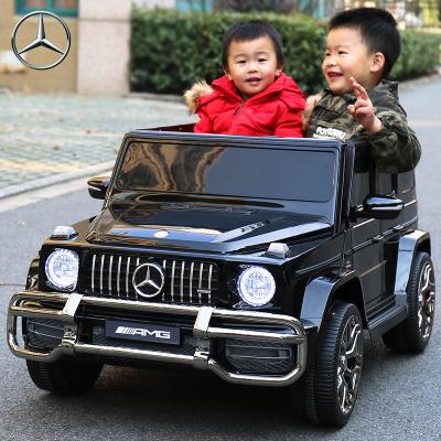 【正版授權】奔馳兒童電動車超大雙人四輪汽車寶寶玩具車可坐越野遙控童車星辰皓