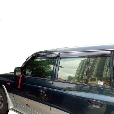 獵豹黑金剛汽車窗晴雨擋雨眉不銹鋼亮條專用06/07/08/09/10/1112年款遮雨檔板18-20款
