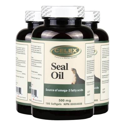 3件裝 | CELEX 北極海豹油軟膠囊 180粒*3瓶 加拿大進口 0.5g*180粒 3瓶