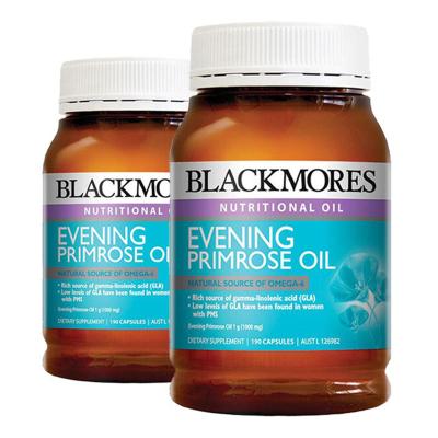 澳佳寶 Blackmores 澳洲進口 月見草油膠囊190粒 * 2瓶