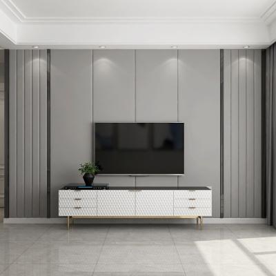 影視背景墻硬包現代閃電客簡約輕奢鑲嵌客廳沙發臥室床頭電視純色軟包 1.2免漆板158/平方
