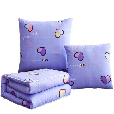 黛格床上用品單人被沙發靠墊辦公室汽車載午休可愛印花抱枕被夏涼空調被子