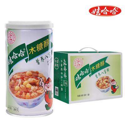 娃哈哈木糖醇營養八寶粥360g*12罐 方便粥 整箱